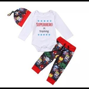 Other - Superhero in Training 3 piece outfit